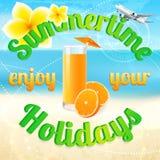Summertime (summer vacation). Beach holidays royalty free stock photos