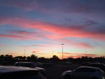 Summertime Sunset. Summertime unset in Jacksonville, Florida stock image