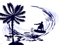 Summertime - surfing Royalty Free Stock Photo