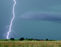 Lightning Thunderstorm on the Prairie Royalty Free Stock Image