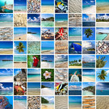Summertime travel collage Stock Images