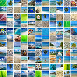 Summertime travel collage Royalty Free Stock Photos