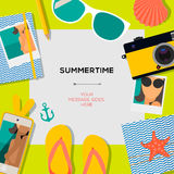 Summertime travel template Royalty Free Stock Photography