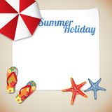 Summertime traveling postcard Stock Photos