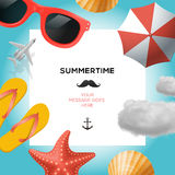 Summertime traveling template Royalty Free Stock Photo