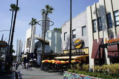 SUMMERTIME at UNIVERSAL STUDIOS. Universal Studios gathers all of the most well known signature coffee shops stores sports stores restaurants stores replica Royalty Free Stock Photos