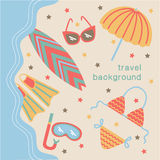 Summertime vacations and traveling background. Stock Photos