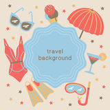 Summertime vacations and traveling background. Royalty Free Stock Photo