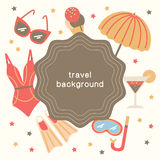 Summertime vacations and traveling background. Royalty Free Stock Photography