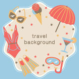 Summertime vacations and traveling background. Royalty Free Stock Photos