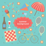Summertime vacations and traveling background. Royalty Free Stock Image