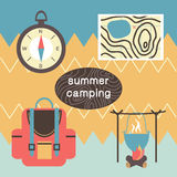Summertime vacations and traveling background. Stock Image