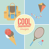 Summertime vacations and traveling background. Royalty Free Stock Images