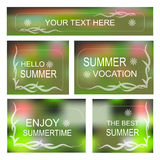 Summertime Vector background, Decorative frame set Royalty Free Stock Photography