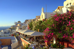 Summertime view from Oia,Santorini,Greece Stock Photography