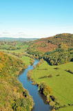Summertime view of Symonds Yat in Herefordshire. Royalty Free Stock Photo