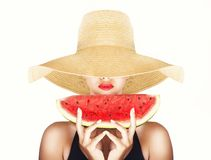 Summertime and watermelon Royalty Free Stock Photography