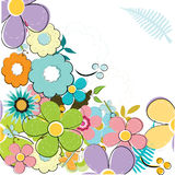 Summery background. Colorful summery floral illustration background Royalty Free Stock Photos