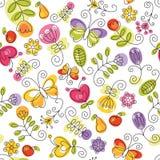 Summery floral background stock illustration