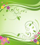 Summery floral banner Royalty Free Stock Photo