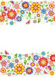 Summery floral border Royalty Free Stock Photography