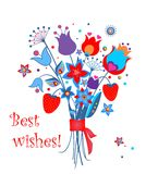 Summery funny greeting bouquet Stock Image