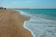 Summery Mediterranean Coast Royalty Free Stock Photos