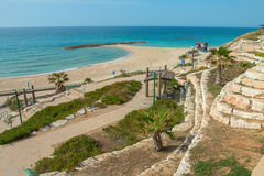 Summery Mediterranean Coast Royalty Free Stock Images