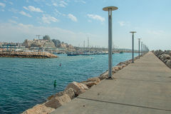 Summery Mediterranean Coast Royalty Free Stock Photo