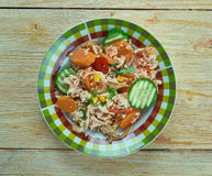 Summery Mexican Chicken Stew. Healthy superfood side dish Royalty Free Stock Photography