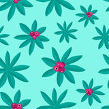 Summery Tropical  Pattern made by Plants and Pink Fruit. Tropical Pattern made by Plants and pink fruit on summery background Stock Photography