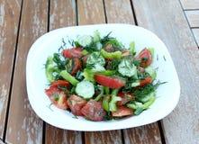 Summery vegetable salad Stock Image
