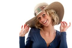 Summery woman smiling Stock Photography