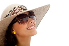 Summery woman smiling Royalty Free Stock Image