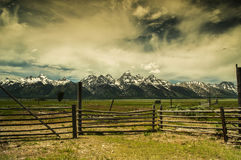 Summet en parc national grand de Teton Images libres de droits
