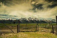 Summet i den storslagna Teton nationalparken Royaltyfria Bilder