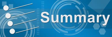 Summiere Blauwe Techy Achtergrond Stock Foto