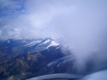 From the summit. Landscape from the summit of western breithorn Royalty Free Stock Photography