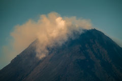 Summit of the active volcano Stock Photography