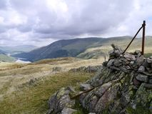 Summit area of Steel Fell, Lake District Royalty Free Stock Images