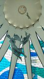 Summit Brasília Catedral. This work with the signature of Oscar Niemeyer stands out by modernity of traits of their pillars with strokes hiperbólicos. the Stock Photography