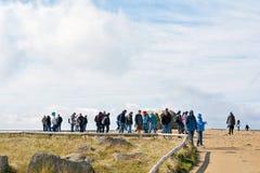 On the summit of the Brocken Royalty Free Stock Photo