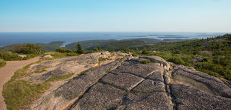 Summit of Cadillac Mountain, Acadia National Park,. View from the summit of Cadillac Mountain, Acadia National Park, USA Royalty Free Stock Photography