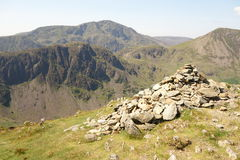 Summit Cairn and Haystacks Royalty Free Stock Photos