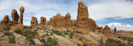 Summit Canyon in the Kofa Wilderness Panoramic Royalty Free Stock Image