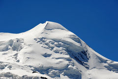 Summit of Castor. A 4000-meter-peak near Zermatt, Vallais, Switzerland Stock Photos