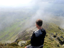 From the summit of Cnicht, Snowdonia. Royalty Free Stock Photography