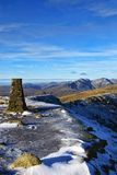 Summit of Coniston Old Man in Winter Royalty Free Stock Image