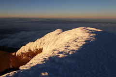 Summit of Cotopaxi Stock Photos