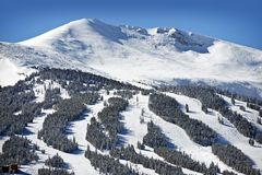 Summit County Ski Slopes Royalty Free Stock Image